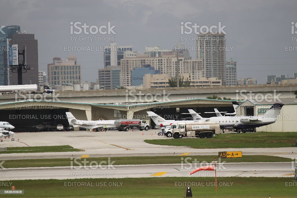 Fort Lauderdale Airport stock photo