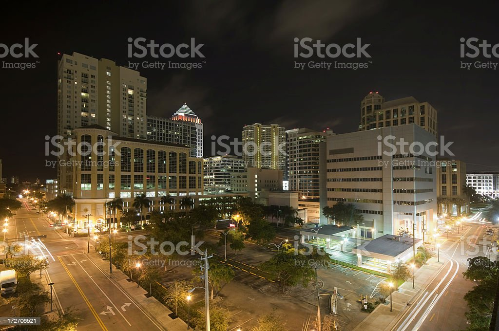 Fort Lauderdale at Night royalty-free stock photo