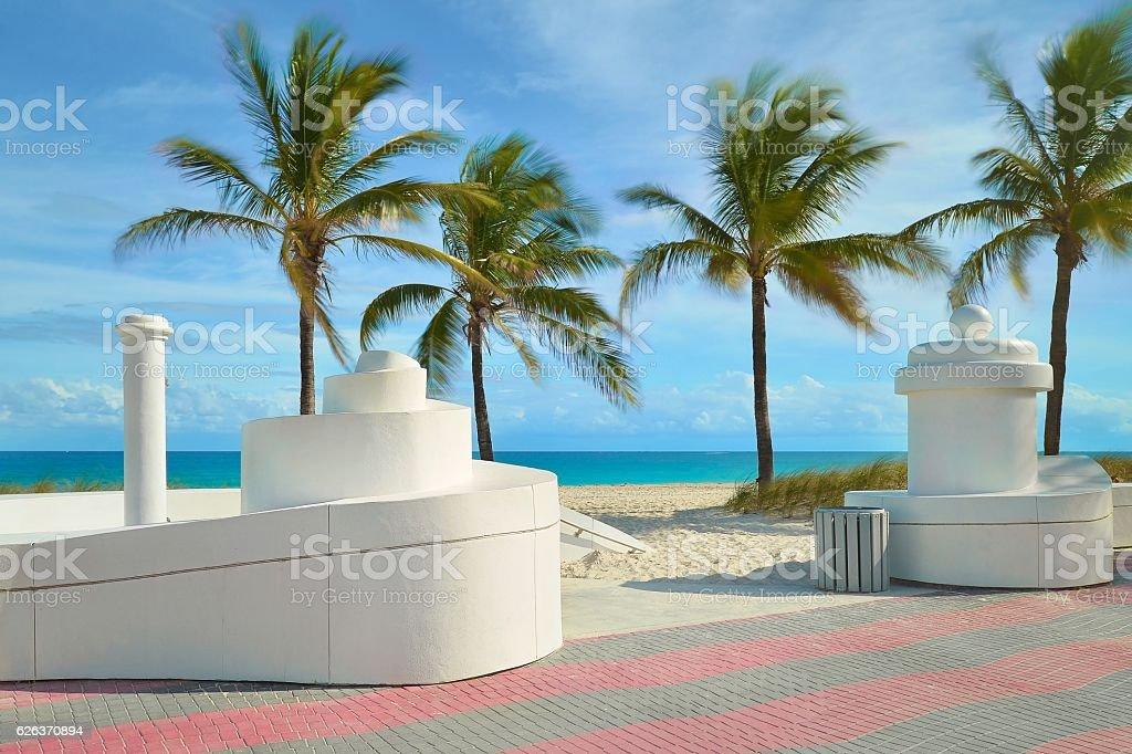 Fort Lauderdale beach near Las Olas Boulevard stock photo