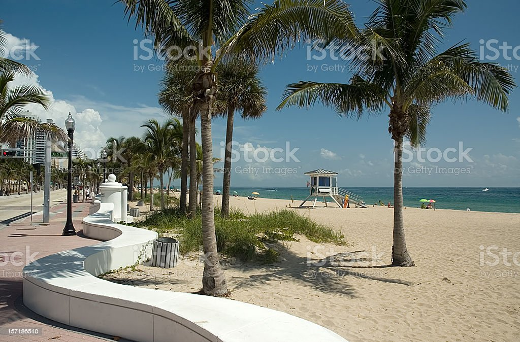 Fort lauderdale beach on sunny day stock photo
