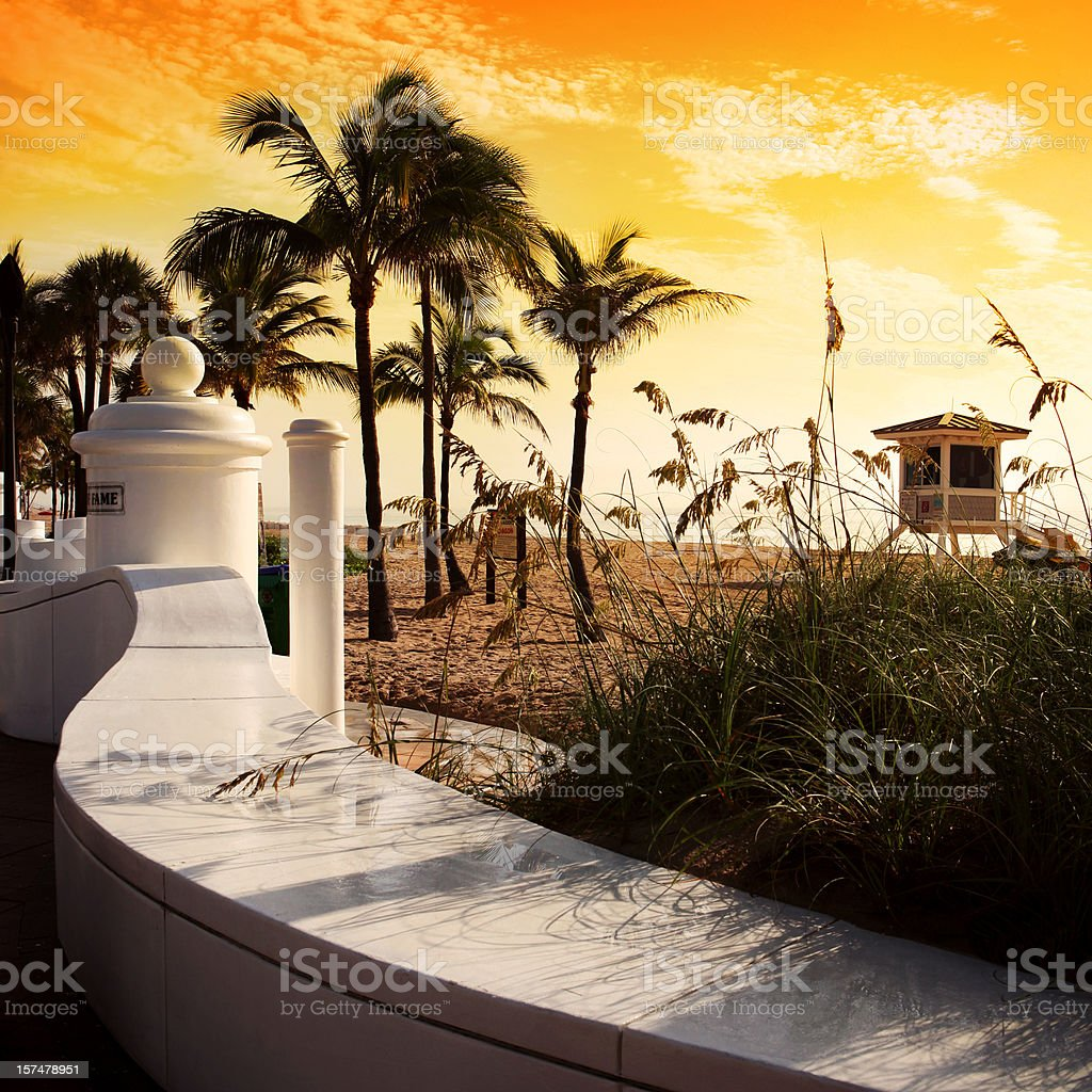 Fort Lauderdale Beach Sunrise stock photo