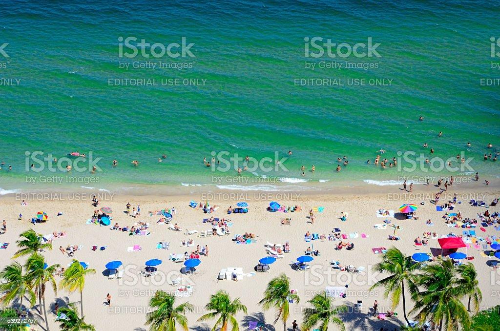 Fort Lauderdale Beach--Spring Break stock photo