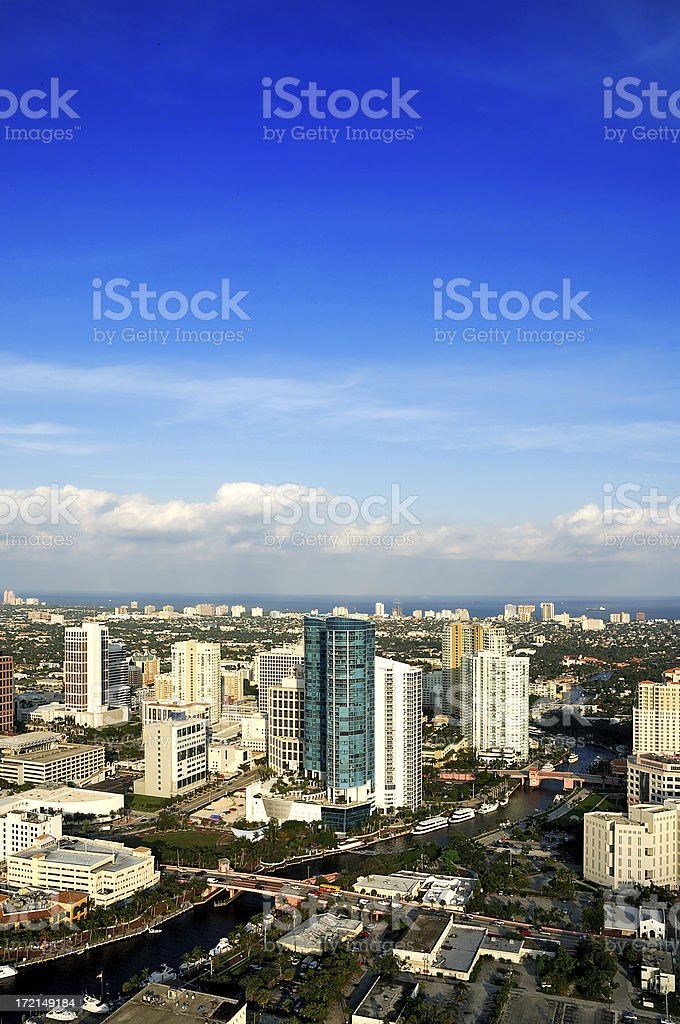 fort lauderdale downtown royalty-free stock photo