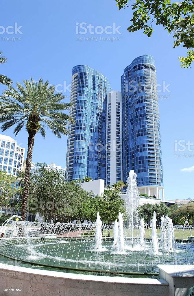 Fort Lauderdale Downtown stock photo