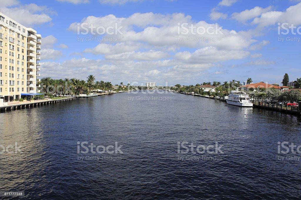 Fort Lauderdale, Florida Intracoastal Waterway stock photo
