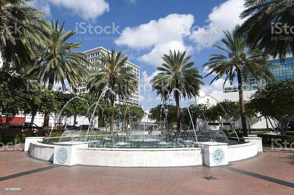 Fort Lauderdale Fountain royalty-free stock photo