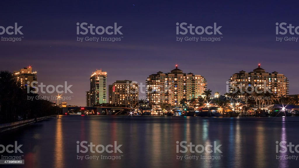 Fort Lauderdale From Hugh Taylor Birch stock photo