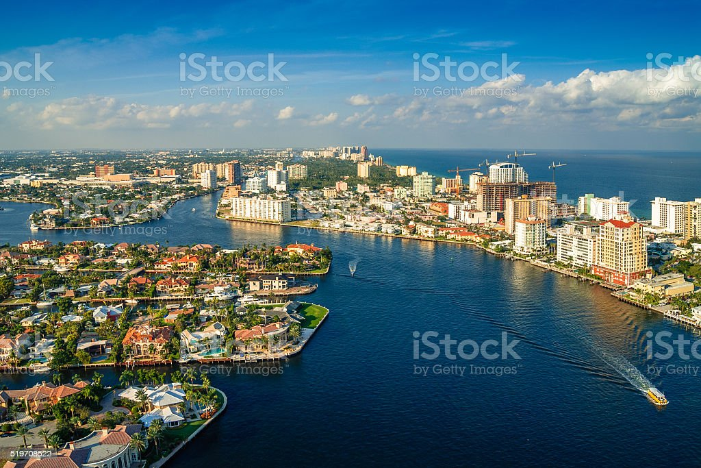 Fort Lauderdale from the air stock photo