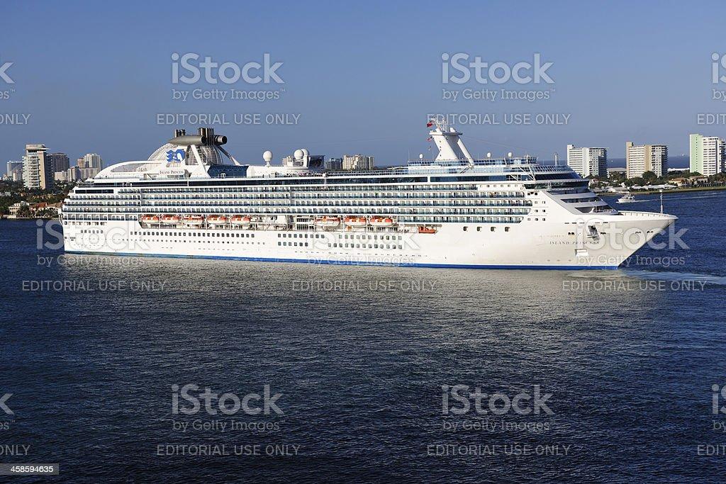 Fort Lauderdale Island Princess Cruise Ship royalty-free stock photo