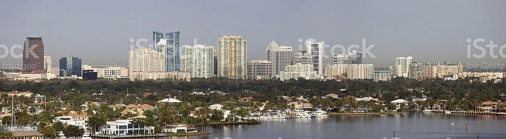Fort Lauderdale panorama royalty-free stock photo