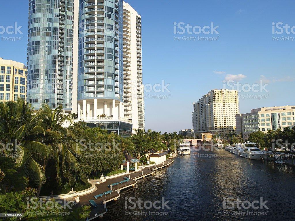 Fort Lauderdale Riverwalk stock photo
