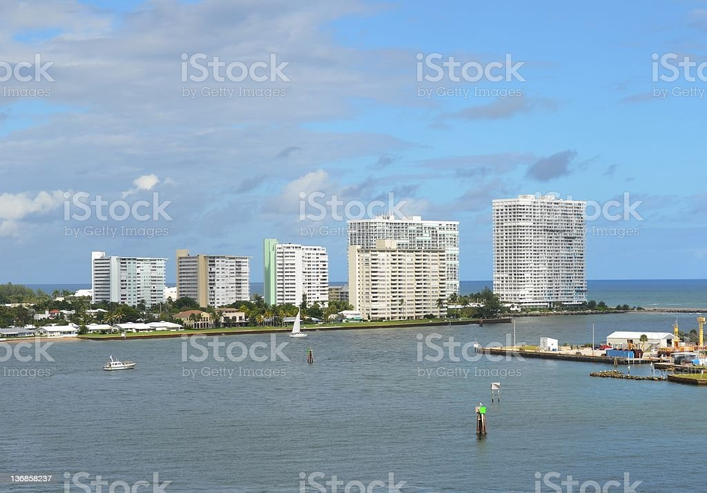 Fort Lauderdale skyline royalty-free stock photo