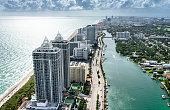 Fort Lauderdale strip aerial view