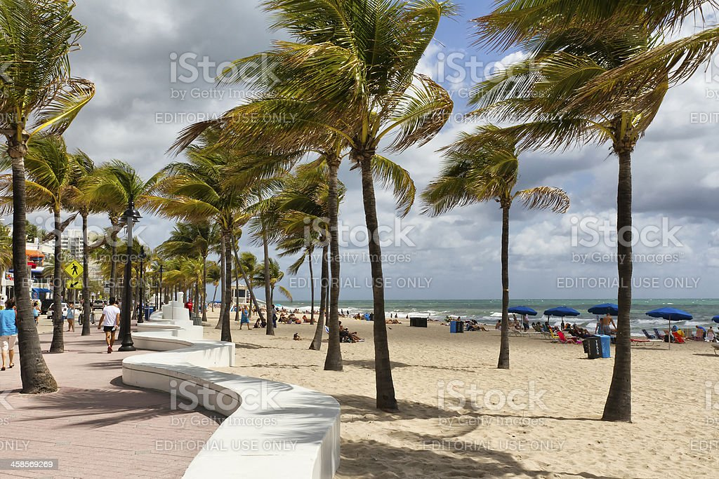 Fort Lauderdale - The promenade royalty-free stock photo