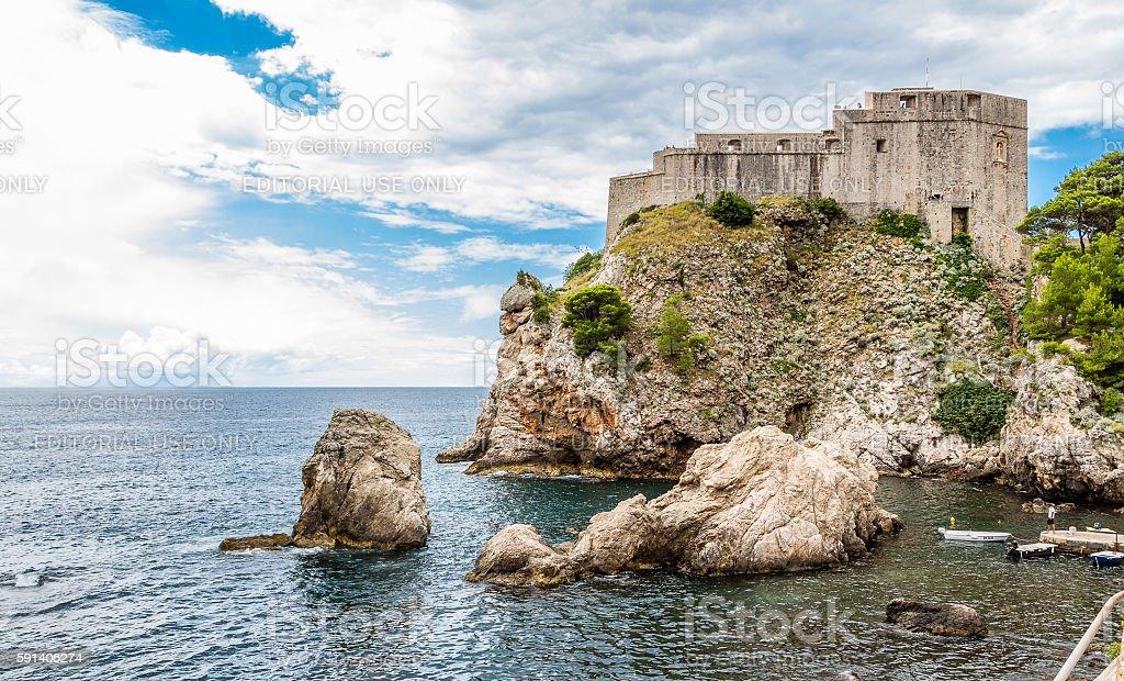 Fort Lovrijenac in Dubrovnik, Croatia stock photo