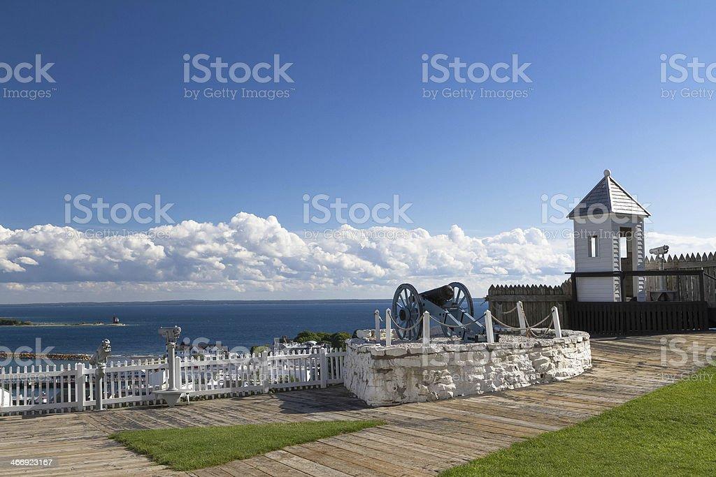 Fort Mackinac stock photo