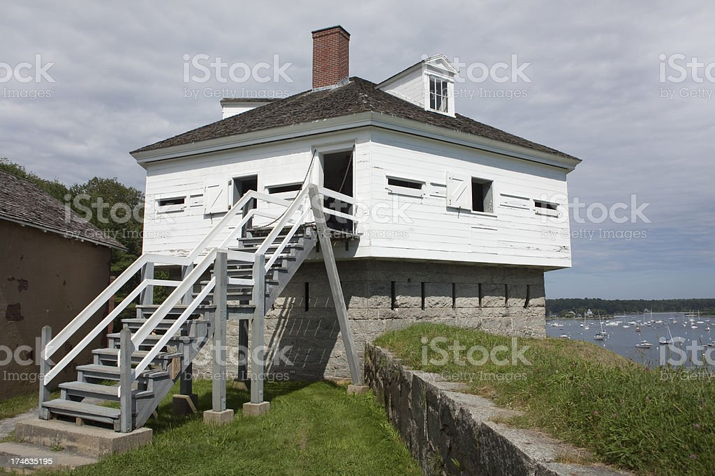 Fort McClary on Portsmouth Harbor Maine stock photo