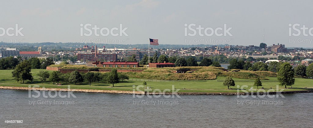 Fort McHenry, Baltimore, Maryland stock photo