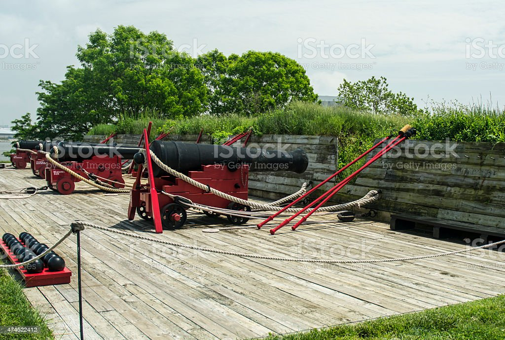 Fort McHenry Civil War Cannon Baltimore stock photo