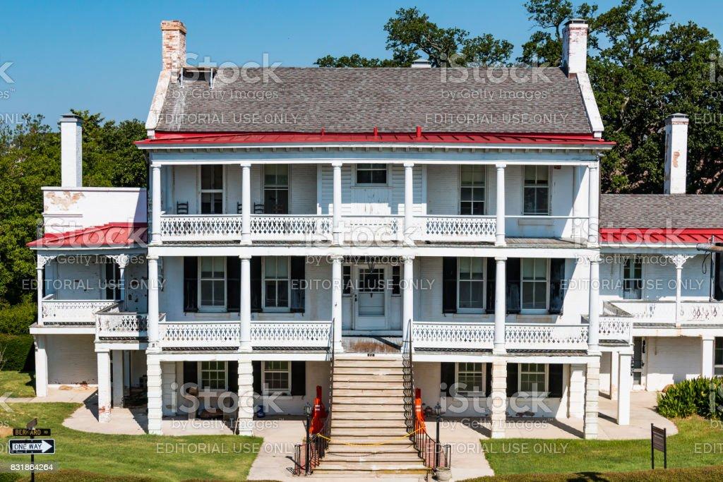 Fort Monroe Commanding Officer's Residence in Hampton, Virginia stock photo