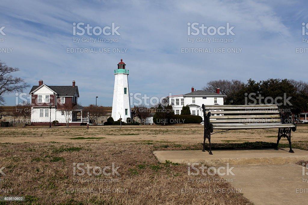 Fort Monroe Virginia stock photo
