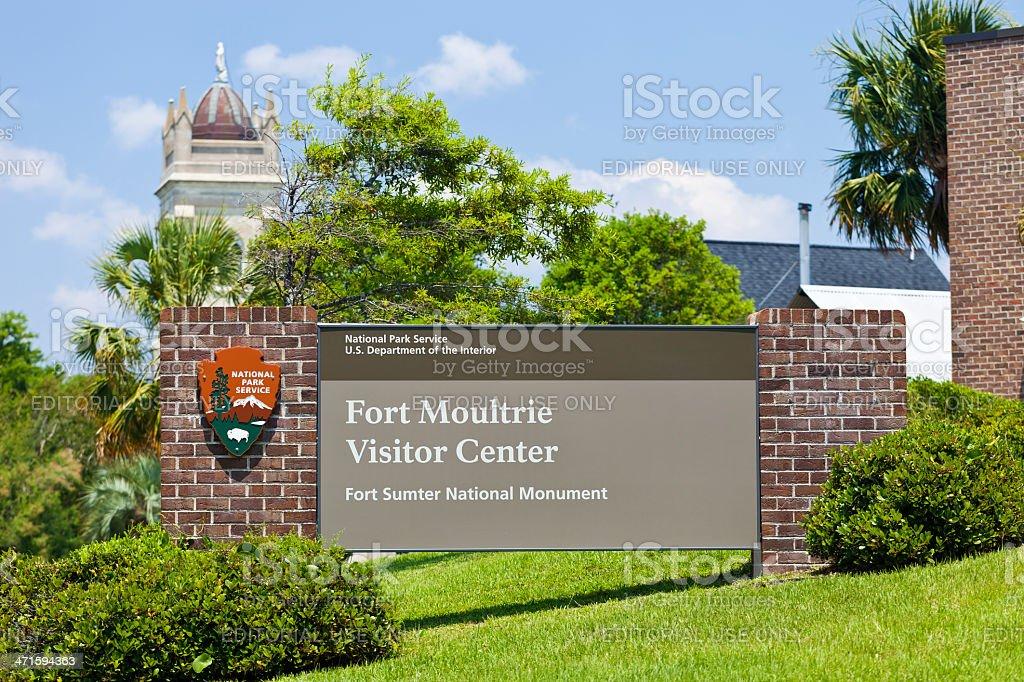 Fort Moultrie Near Charleston, South Carolina stock photo
