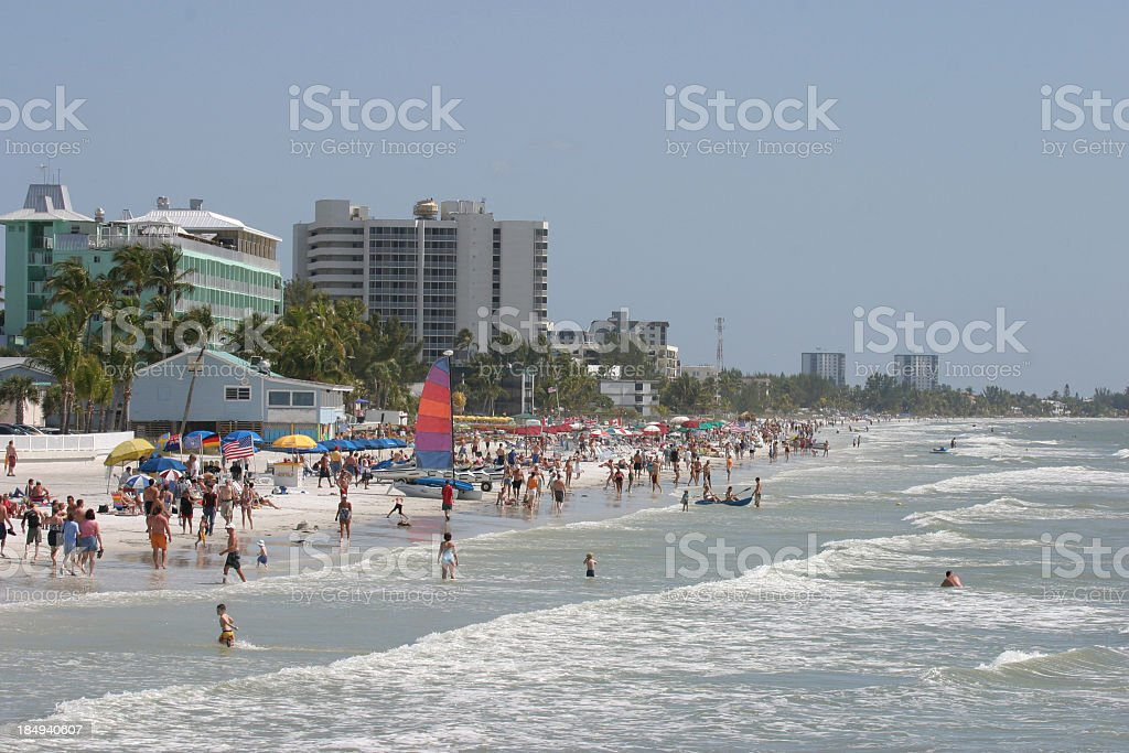 Fort Myers beach royalty-free stock photo