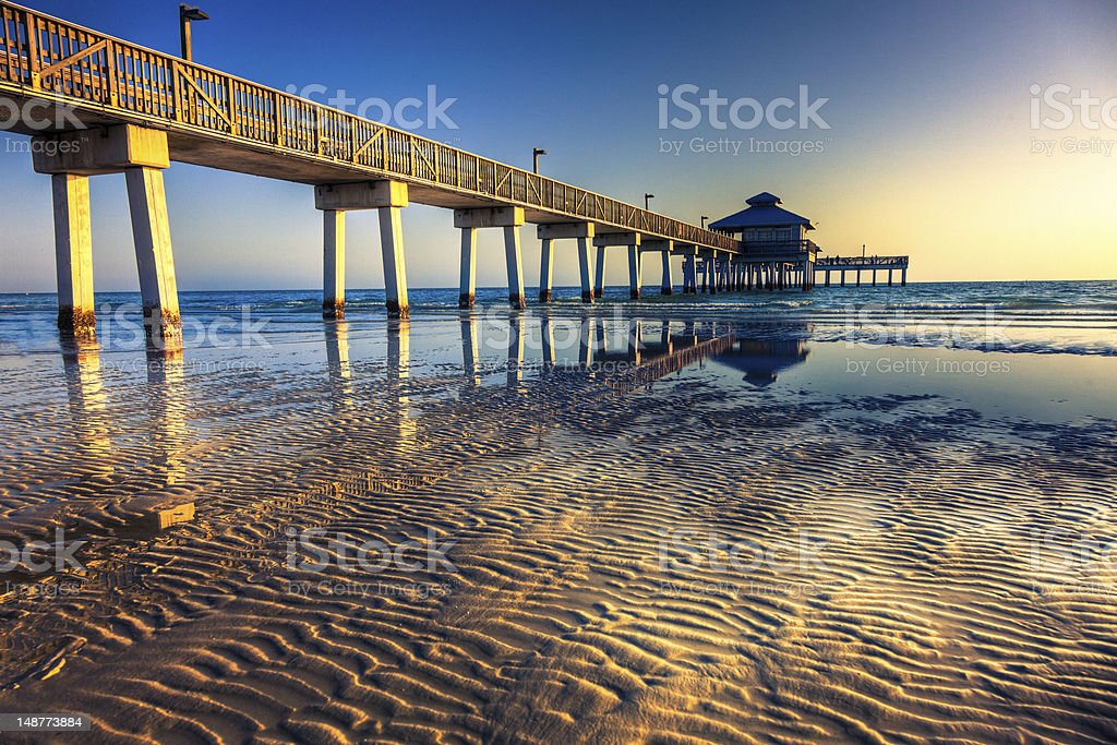 Fort Myers Beach Pier stock photo