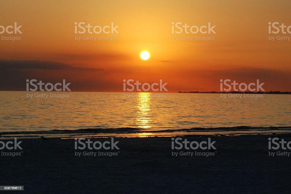 Fort Myers Florida Sunset stock photo