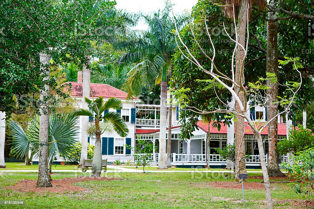 Fort Myers Florida, Thomas Edison and Henry Ford Winter Estates. stock photo