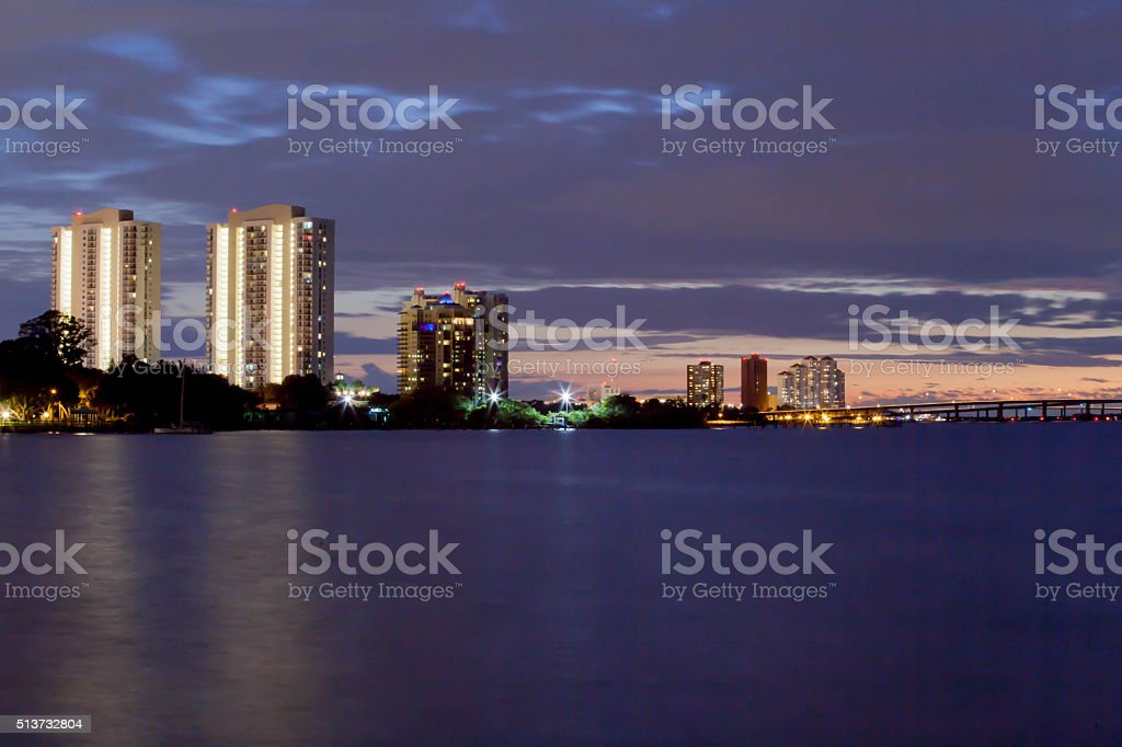 Fort Myers Riverfront stock photo
