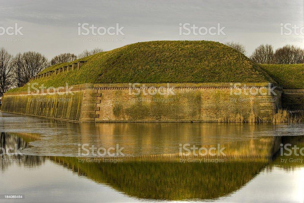 Fort Naarden vesting stock photo