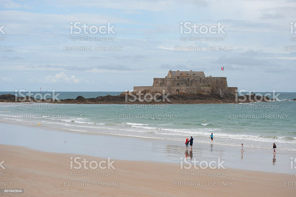 Fort National in Saint Malo (France). stock photo