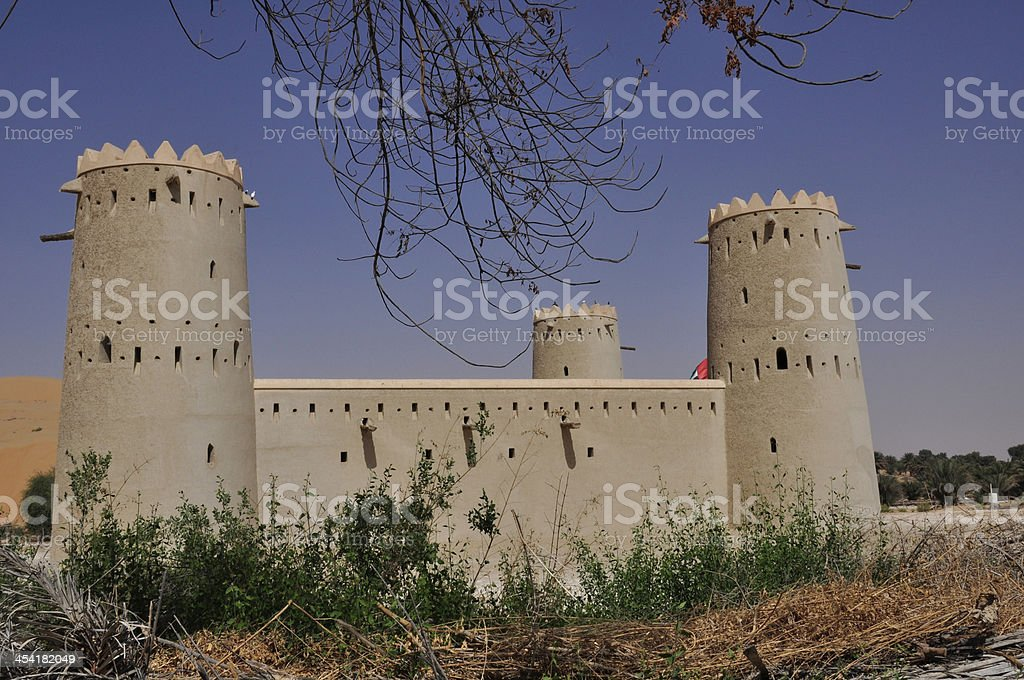 Fort near Hmeem stock photo