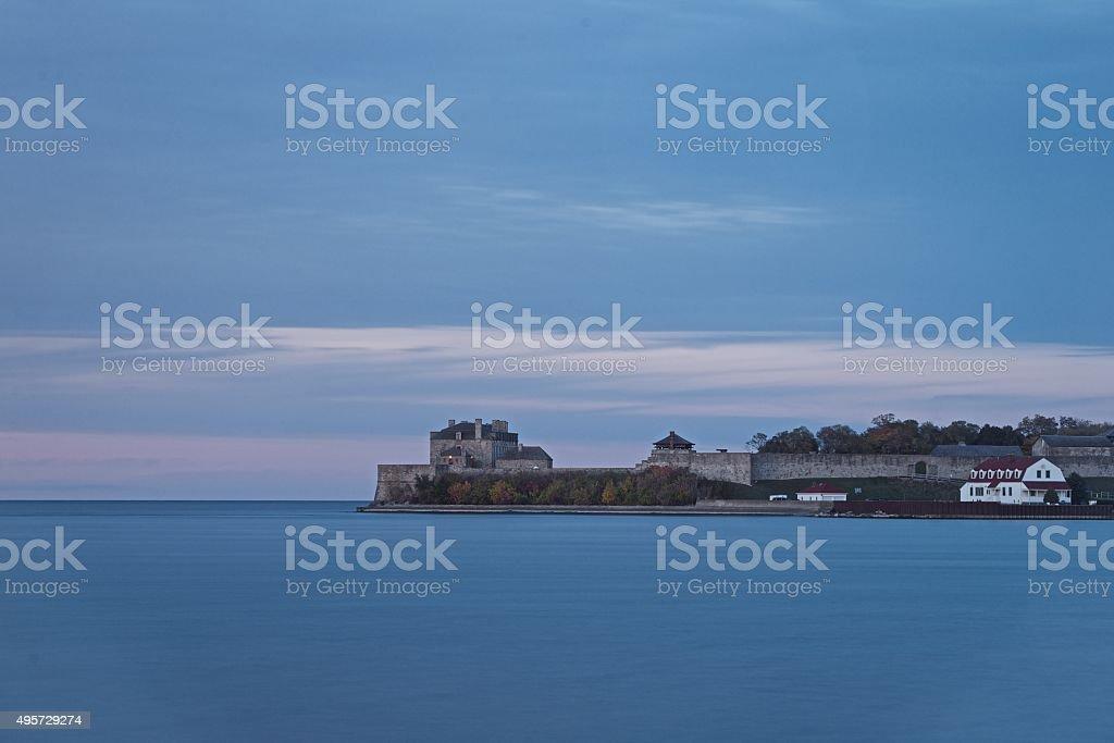 Fort Niagara, late auntumn evening, Niagara on the Lake stock photo
