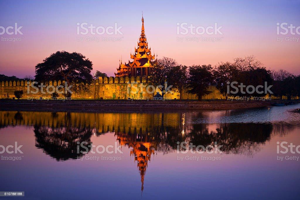 Fort of Mandalay stock photo