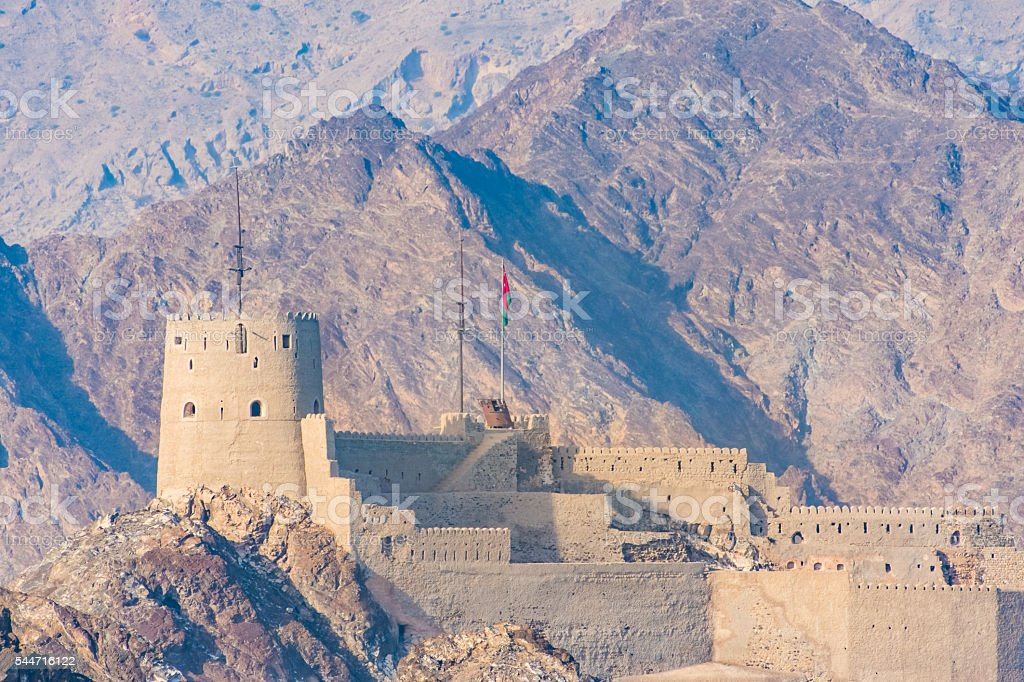 Fort of Mutrah, Muscat, Oman stock photo