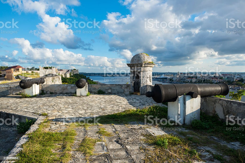 Fort of Saint Charles in Havana, Cuba stock photo