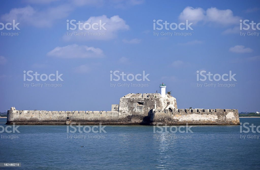 Fort Off Of Diu, India stock photo