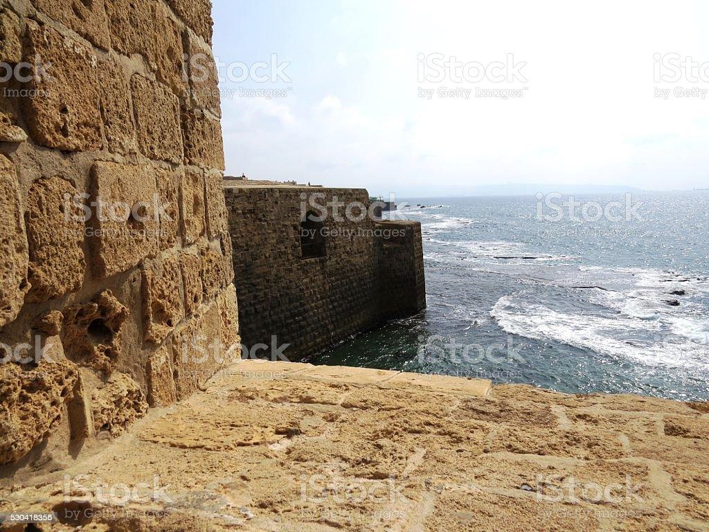 Fort on sea stock photo