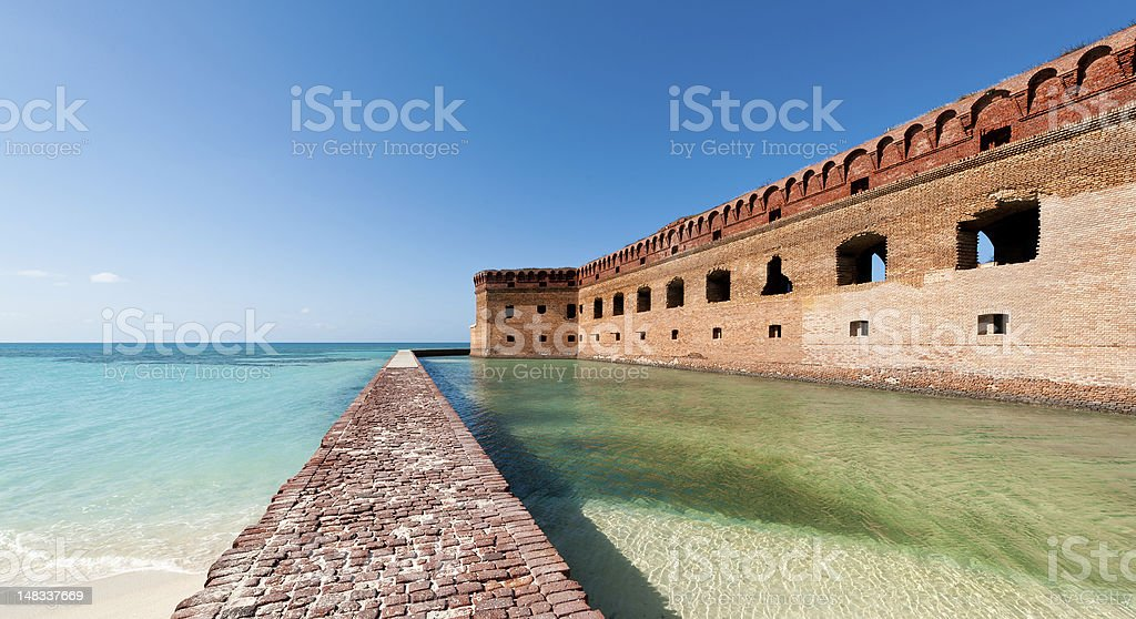 Fort on the ocean stock photo