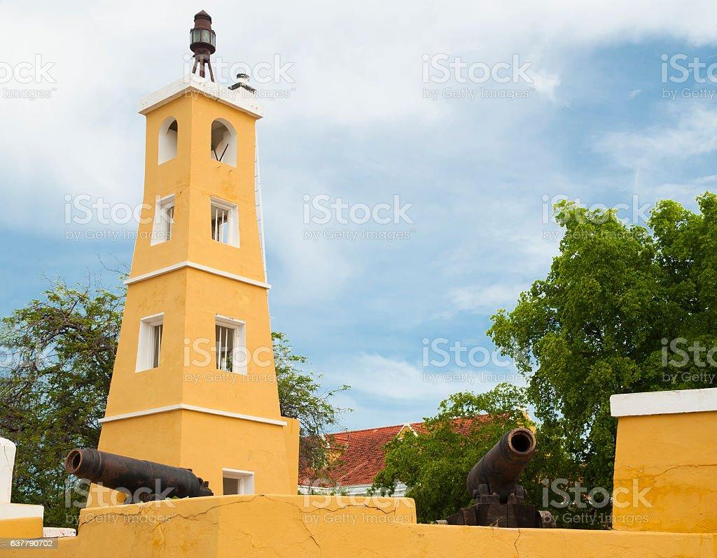 Fort Oranje, Bonaire stock photo