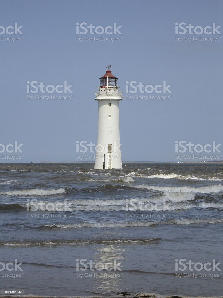 Fort Perch Rock Lighthouse stock photo