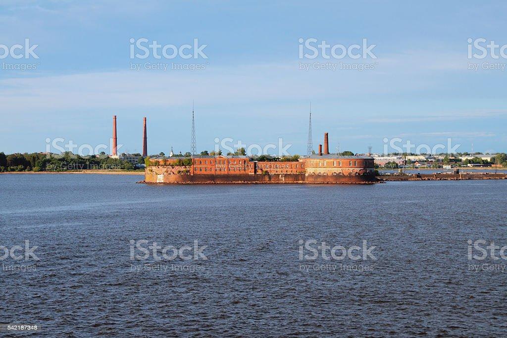 Fort Peter I, Kronstadt. St. Petersburg, Russia stock photo
