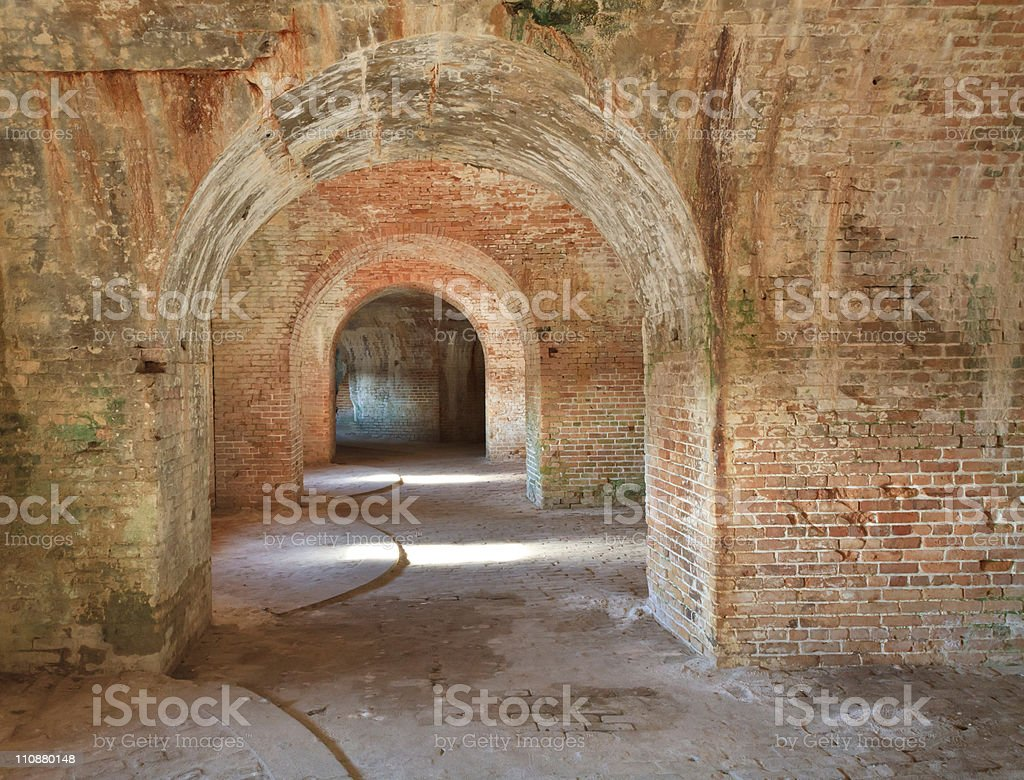 Fort Pickens Arches stock photo