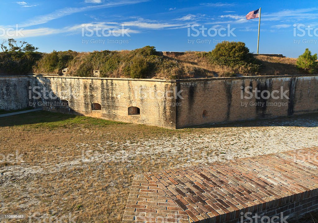 Fort Pickens Dry Moat stock photo