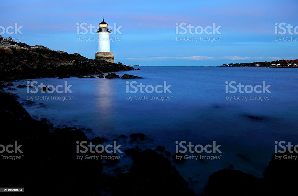 Fort Pickering Lighthouse in Salem Masschusetts stock photo