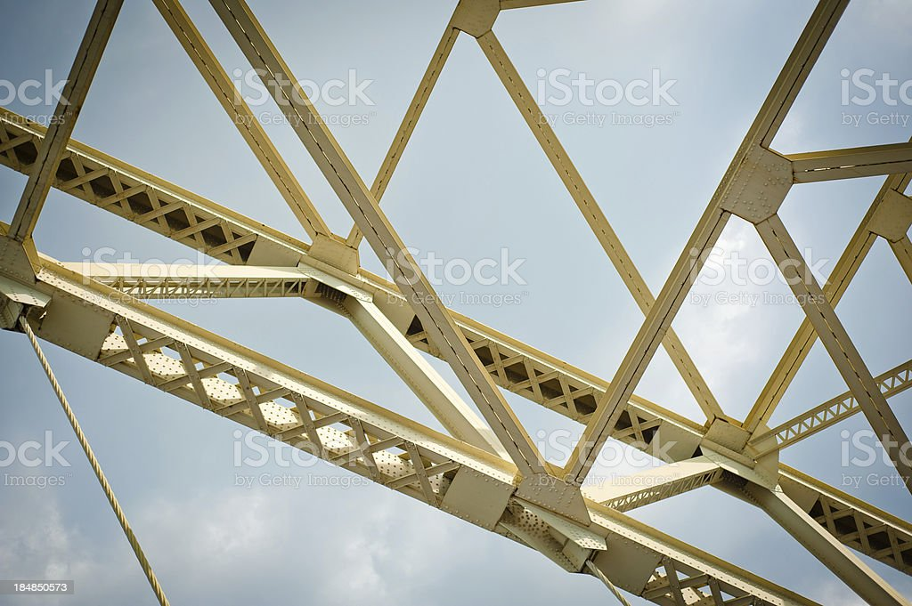 Fort Pitt Bridge from below. stock photo