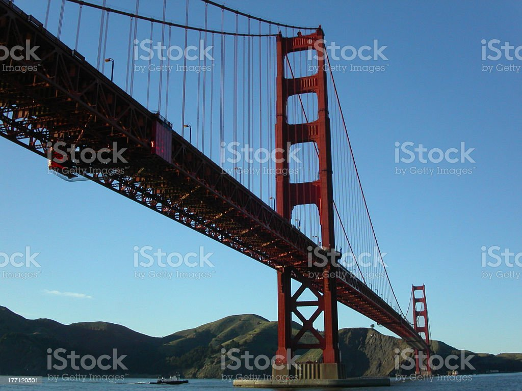 Fort Point View of Golden Gate Bridge royalty-free stock photo