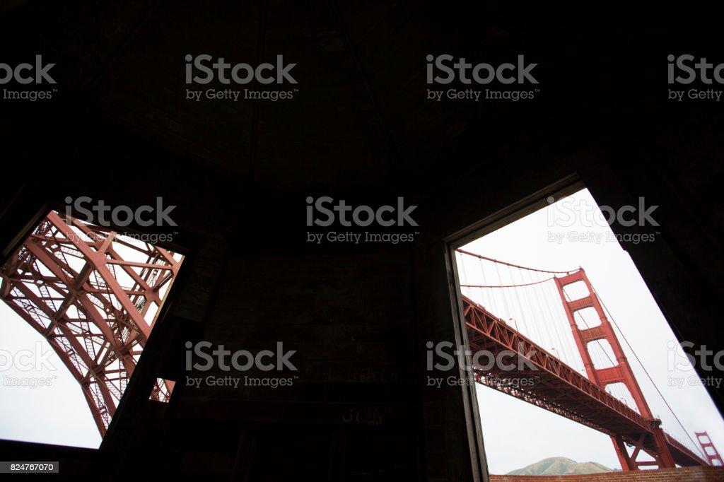 Fort Point's Golden Gate Bridge stock photo